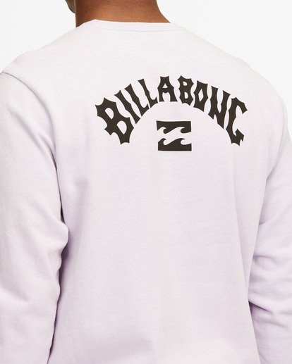 3 Arch Wave Washed Crew Neck Sweatshirt Purple ABYFT00199 Billabong