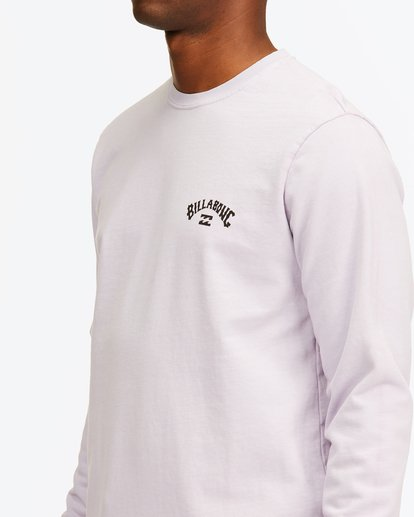 4 Arch Wave Washed Crew Neck Sweatshirt Purple ABYFT00199 Billabong