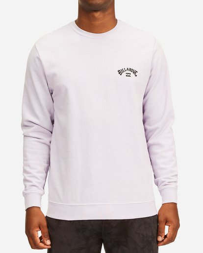 0 Arch Wave Washed Crew Neck Sweatshirt Purple ABYFT00199 Billabong