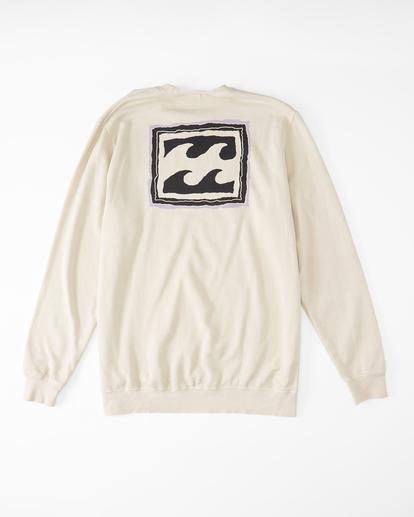 4 Wave Washed Crayon Wave Crewneck Pullover Sweater Black ABYFT00239 Billabong