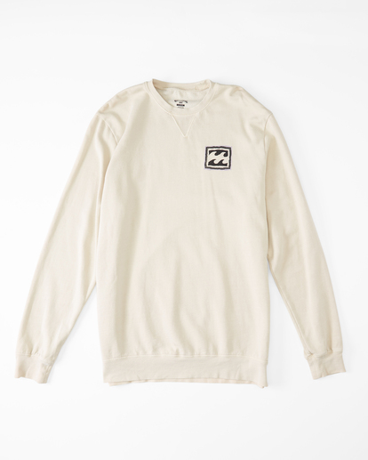 3 Wave Washed Crayon Wave Crewneck Pullover Sweater Black ABYFT00239 Billabong