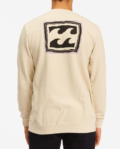 2 Wave Washed Crayon Wave Crewneck Pullover Sweater Black ABYFT00239 Billabong