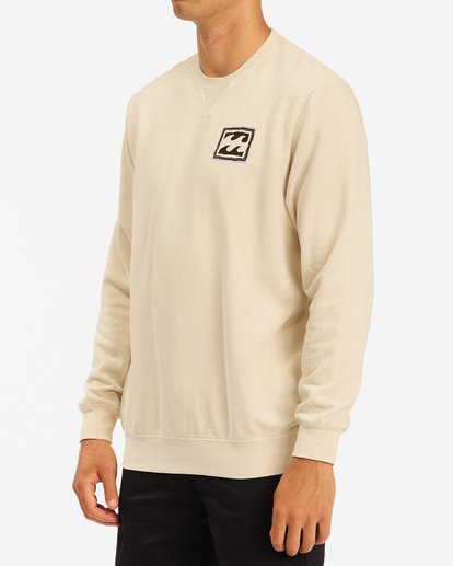 1 Wave Washed Crayon Wave Crewneck Pullover Sweater Black ABYFT00239 Billabong