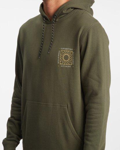 6 A/Div Sunburn Pullover Hoodie Brown ABYFT00273 Billabong