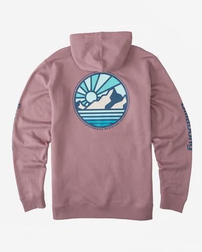 6 A/Div Rockies Pullover Hoodie Grey ABYFT00275 Billabong