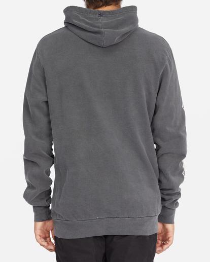 3 D Bah Wave Washed Pullover Hoodie Grey ABYFT00304 Billabong