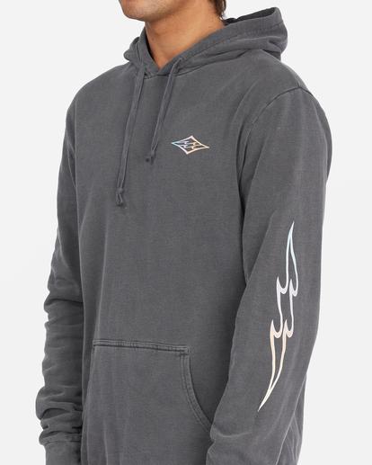 4 D Bah Wave Washed Pullover Hoodie Grey ABYFT00304 Billabong