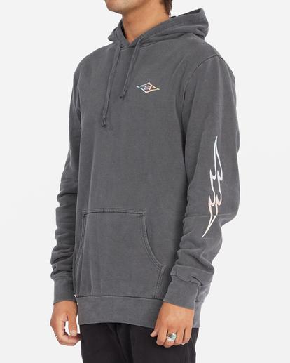 1 D Bah Wave Washed Pullover Hoodie Grey ABYFT00304 Billabong