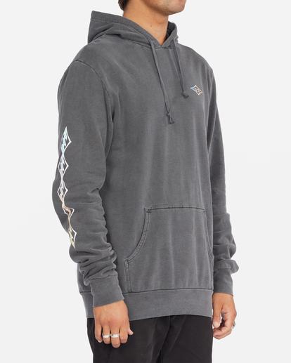 2 D Bah Wave Washed Pullover Hoodie Grey ABYFT00304 Billabong