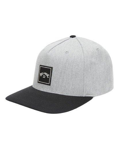 0 Stacked Snapback Hat Grey ABYHA00152 Billabong