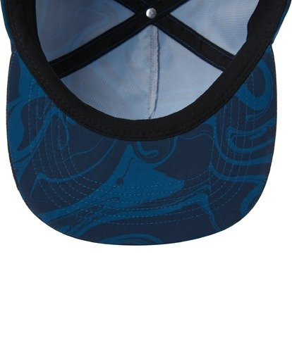 4 Platform Print Strapback Hat Blue ABYHA00198 Billabong