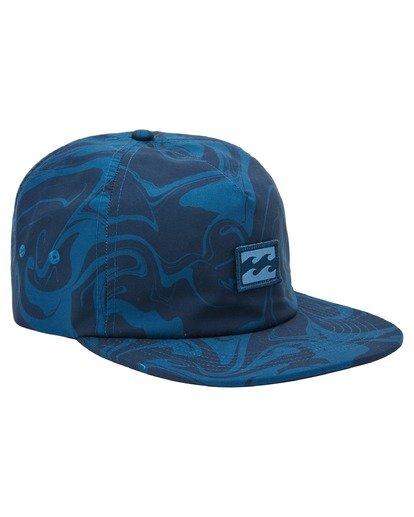 2 Platform Print Strapback Hat Blue ABYHA00198 Billabong