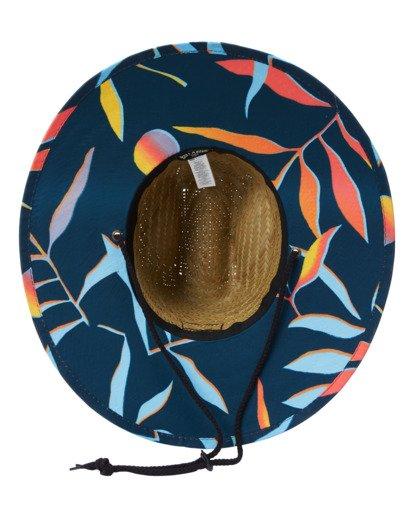 4 Tides Print Straw Lifeguard Hat Blue ABYHA00216 Billabong