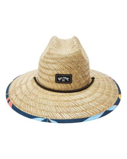 1 Tides Print Straw Lifeguard Hat Blue ABYHA00216 Billabong