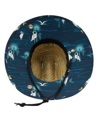 2 Tides Print Straw Lifeguard Hat Blue ABYHA00216 Billabong