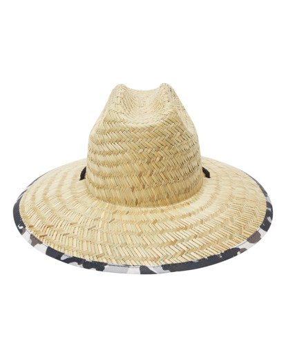 3 Tides Print Straw Lifeguard Hat Green ABYHA00216 Billabong