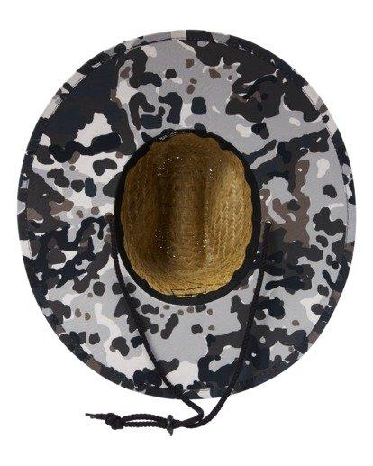 4 Tides Print Straw Lifeguard Hat Green ABYHA00216 Billabong