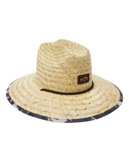 2 Tides Print Straw Lifeguard Hat Green ABYHA00216 Billabong