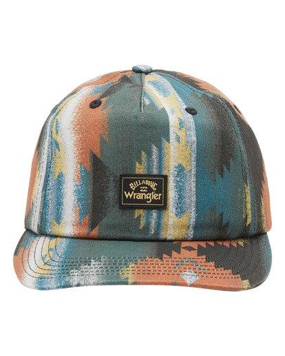 1 Wrangler Westward Strapback Hat White ABYHA00227 Billabong
