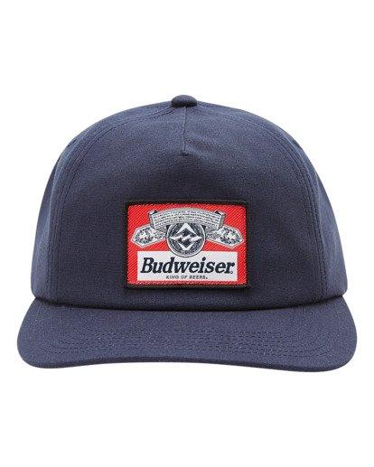 1 Budweiser Insignia Snapback Hat Blue ABYHA00233 Billabong