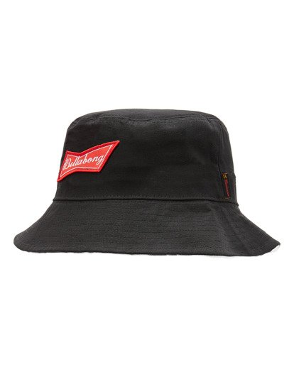 0 Budweiser Bow Bucket Hat Black ABYHA00246 Billabong