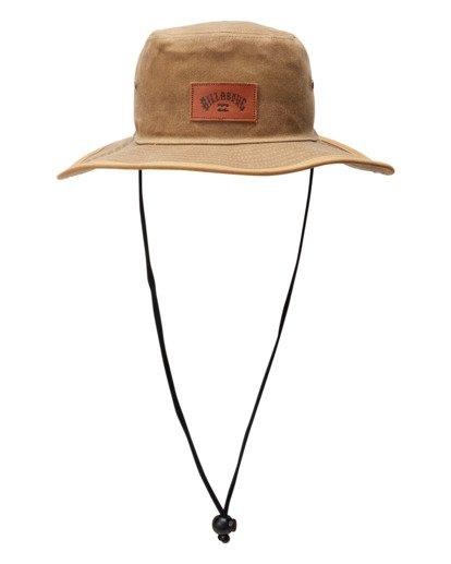 0 Waxed Twill Big John Safari Hat Grey ABYHA00273 Billabong