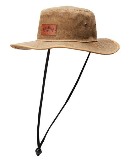 1 Waxed Twill Big John Safari Hat Grey ABYHA00273 Billabong