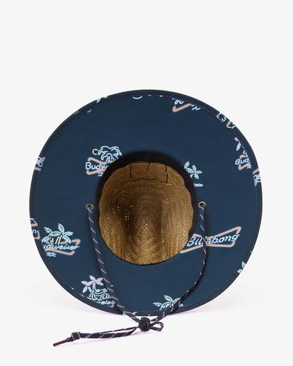 2 Budweiser Neon Tides Print Hat Blue ABYHA00309 Billabong