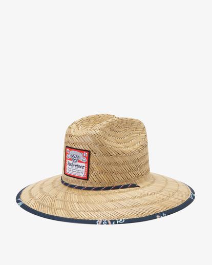 0 Budweiser Neon Tides Print Hat Blue ABYHA00309 Billabong