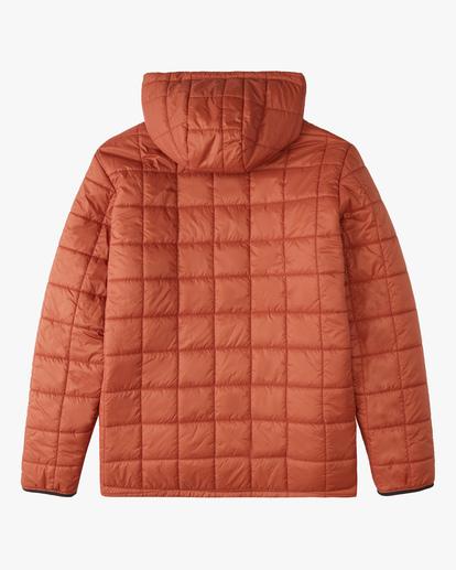 6 A/Div Journey Hooded Zip-Up Puffer Jacket Yellow ABYJK00116 Billabong