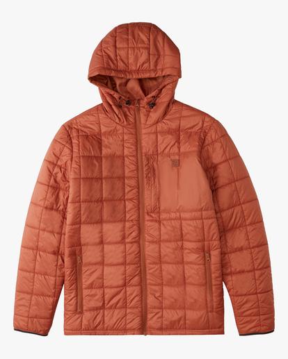 5 A/Div Journey Hooded Zip-Up Puffer Jacket Yellow ABYJK00116 Billabong