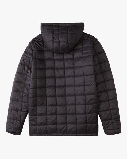 6 A/Div Journey Hooded Zip-Up Puffer Jacket Black ABYJK00116 Billabong