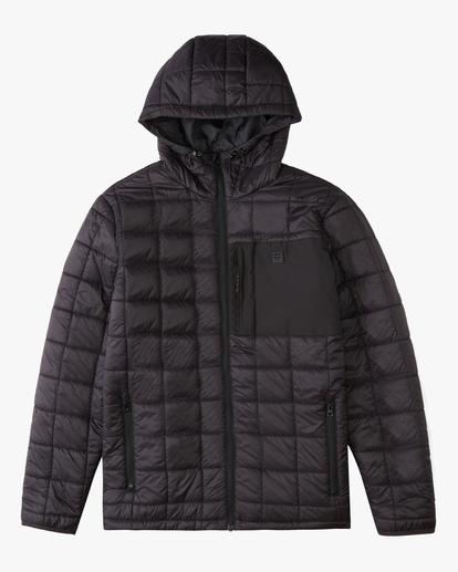 5 A/Div Journey Hooded Zip-Up Puffer Jacket Black ABYJK00116 Billabong