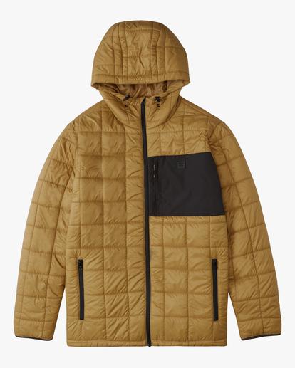 4 A/Div Journey Hooded Zip-Up Puffer Jacket White ABYJK00116 Billabong