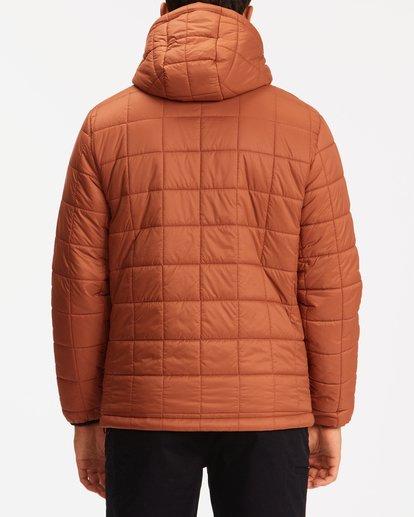 2 A/Div Journey Hooded Zip-Up Puffer Jacket Yellow ABYJK00116 Billabong