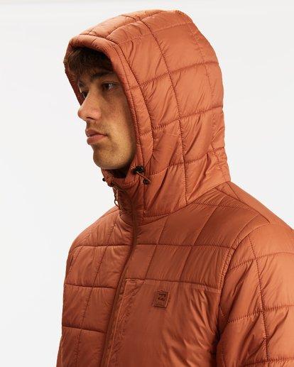 3 A/Div Journey Hooded Zip-Up Puffer Jacket Yellow ABYJK00116 Billabong