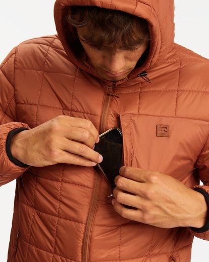 4 A/Div Journey Hooded Zip-Up Puffer Jacket Yellow ABYJK00116 Billabong