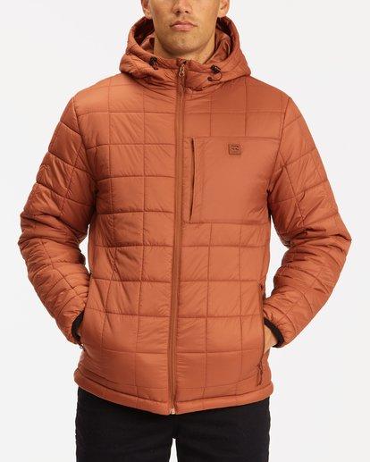 0 A/Div Journey Hooded Zip-Up Puffer Jacket Yellow ABYJK00116 Billabong