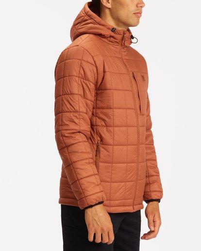 1 A/Div Journey Hooded Zip-Up Puffer Jacket Yellow ABYJK00116 Billabong