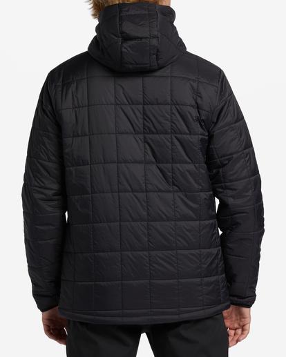 2 A/Div Journey Hooded Zip-Up Puffer Jacket Black ABYJK00116 Billabong