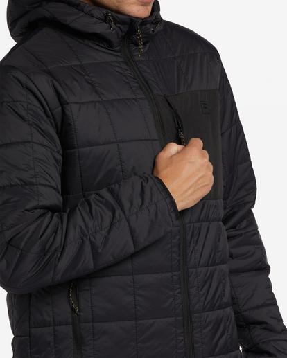 3 A/Div Journey Hooded Zip-Up Puffer Jacket Black ABYJK00116 Billabong