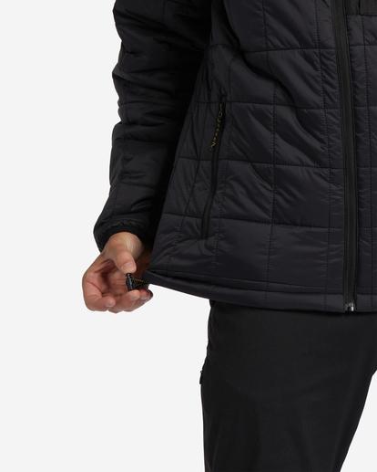 4 A/Div Journey Hooded Zip-Up Puffer Jacket Black ABYJK00116 Billabong