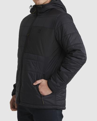 1 A/Div Journey Hooded Zip-Up Puffer Jacket Black ABYJK00116 Billabong
