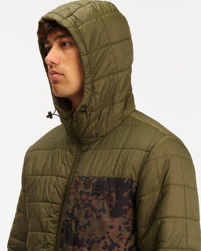 4 A/Div Journey Hooded Zip-Up Puffer Jacket Brown ABYJK00116 Billabong