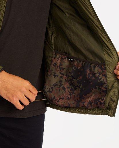 6 A/Div Journey Hooded Zip-Up Puffer Jacket Brown ABYJK00116 Billabong
