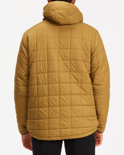 2 A/Div Journey Hooded Zip-Up Puffer Jacket White ABYJK00116 Billabong