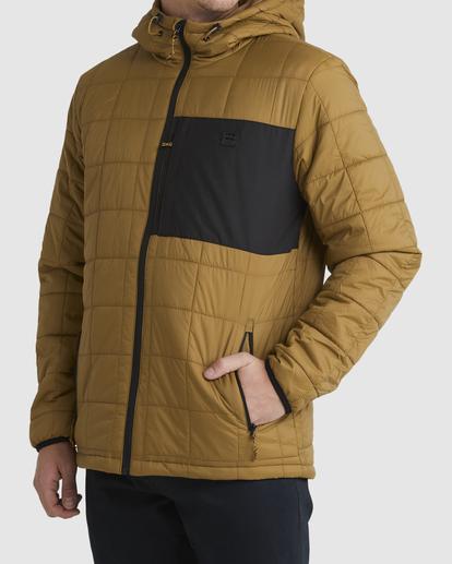 1 A/Div Journey Hooded Zip-Up Puffer Jacket White ABYJK00116 Billabong