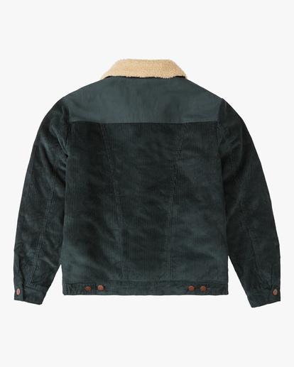9 Wrangler Range Cord Sherpa Jacket Green ABYJK00127 Billabong