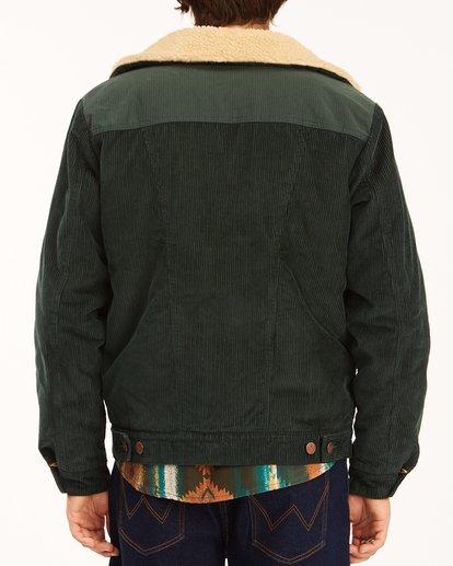 6 Wrangler Range Cord Sherpa Jacket Green ABYJK00127 Billabong