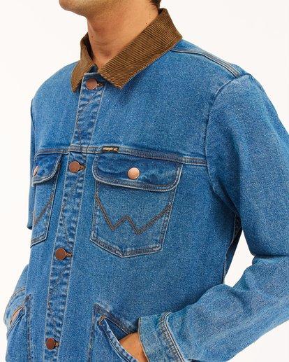 4 Wrangler Team Ranch Hemp Jacket Blue ABYJK00128 Billabong